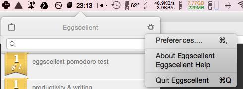Accessing Eggscellent preferences